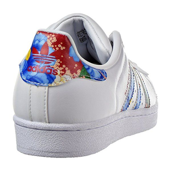 Amazon.com | adidas Originals Women's Superstar W, White/White/Noble Teal