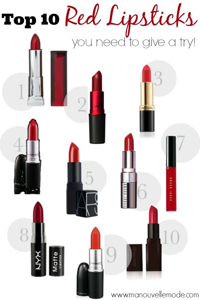 top ten red lipsticks you need to try