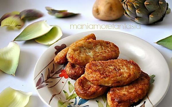 Crocchette di carciofi | ricette con i carciofi | maniamorefantasia