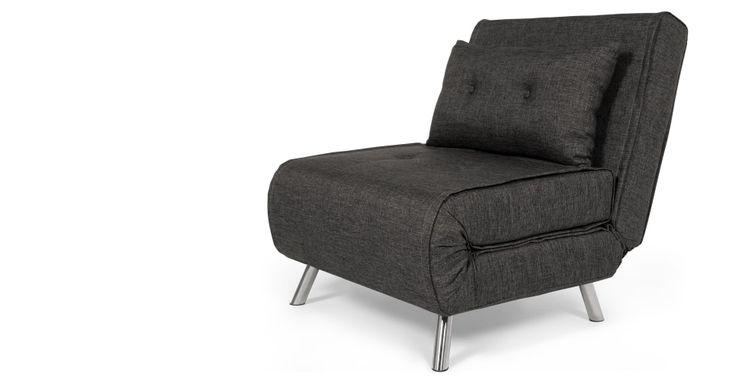 £170 Haru Single Sofa Bed, Cygnet Grey. made.com