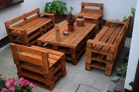 I would love to have this set sitting on my patio.