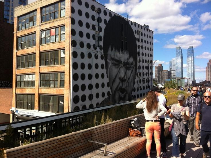 Along side the High Line NY