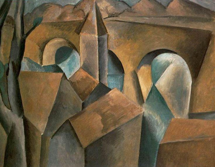 """Pablo Picasso, """"Paisaje con un río"""", 1909"""