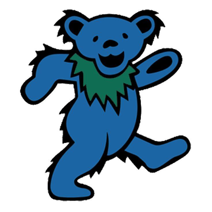 Blue Bear Diecut Sticker Grateful Dead Dancing Bears