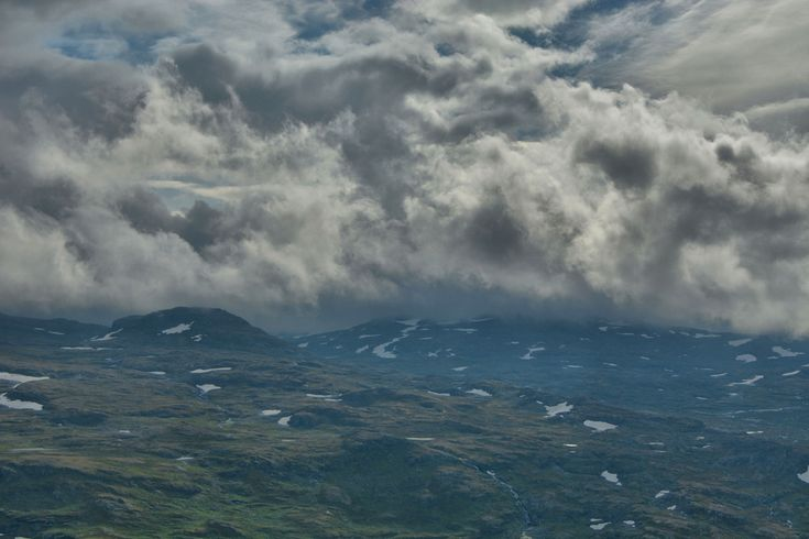 Storm clouds from above Stemmerdalen