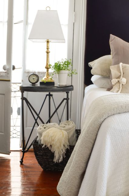 Paula's Home | Traditional Styling mixed with an Industrial Bedside Table | www.seaislanddrive.com