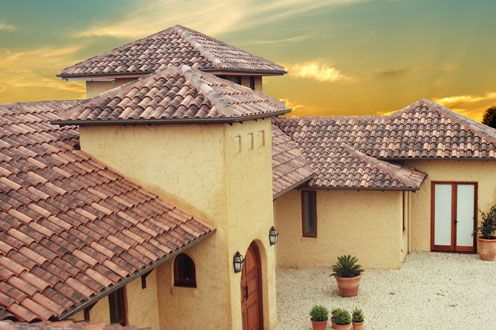 Curvado Range Roman Style Clay Terracotta Roof Tiles