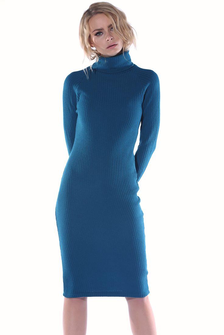 Mavi Kaşkorse Balıkçı Elbise