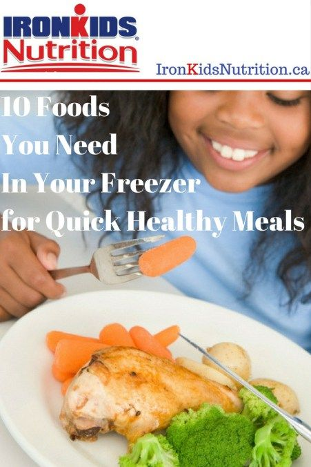 10 Foods You Need in your Freezer for Quick Healthy Meals