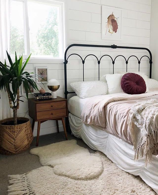 Bed Frame A Mix Of Mid Century Modern Bohemian And Industrial