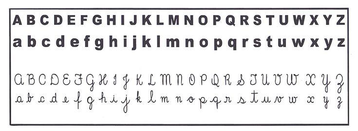El abecedario en cursiva para imprimir - Imagui