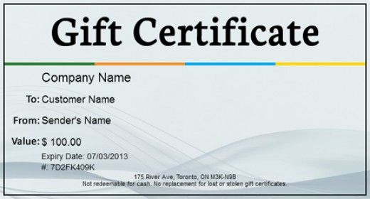 a free gift certificate template
