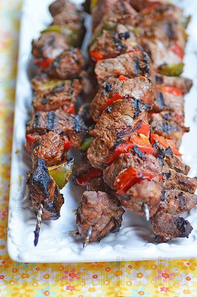 Les gourmandises d'Isa: #CulturesCulinaires :BROCHETTES DE BOEUF À LA MANG...