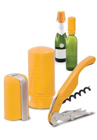 Pulltex Starter Set - Yellow — Giftwerks The retractable double lever corkscrew allows pulling the corks out effortlessly in two steps. The wine saver takes the air out of the bottle preserving the wine for several days, while using it also a stopper. The champagne opener & stopper facilitates the extraction of the champagne cork with little risk and effort. Acts as a stopper once the bottle is open.