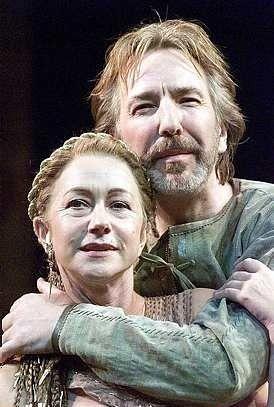 Helen Mirren and Alan Rickman as Cleopatra and Mark Antony