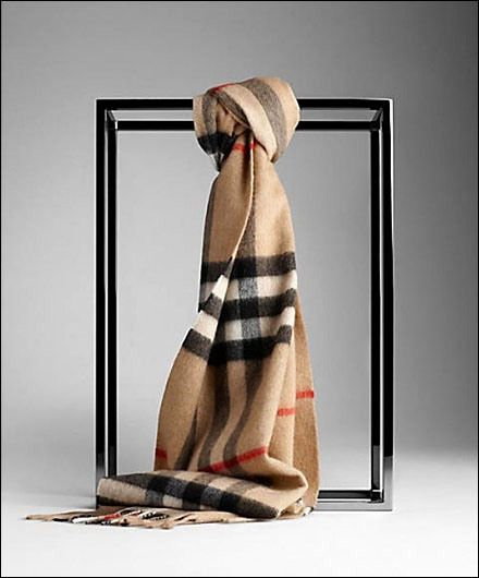 Burberry® Scarf and Space Frame