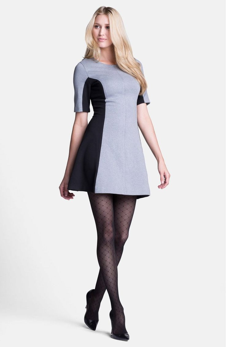 86 best clothing items patterned tights images on pinterest grey and black dress with diamond tights and black heels ombrellifo Gallery