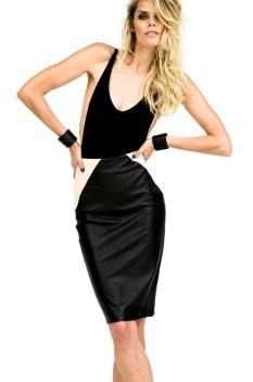 Blessed are the Meek minx leather skirt $299.95 | threads and style