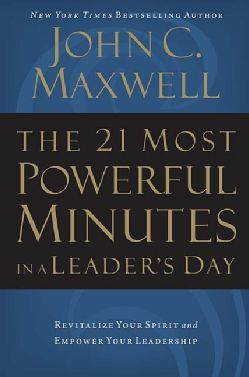 @Overstock - While a few people appear to be born leaders, the ability to lead is actually a collection of skills, nearly all of which can be learned and sharpened. Based on his New York Times bestseller The 21 Irrefutable Laws of Leadership, auth...http://www.overstock.com/Books-Movies-Music-Games/The-21-Most-Powerful-Minutes-in-a-Leaders-Day-Revitalize-Your-Spirit-and-Empower-Your-Leadership-Paperback-softback/2488915/product.html?CID=214117 USD 16.03