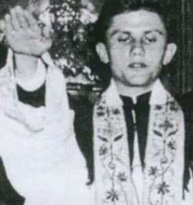 Ratzinger making a Hitler salute..the future Pope Benedict XVI demonstrating papal infallibility...
