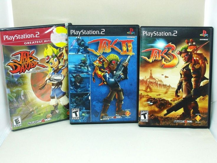 PS2 Trilogy Lot Jak and Daxter Jak 2 Jak 3 Red and Black Label Playstation 2 #Playstation2