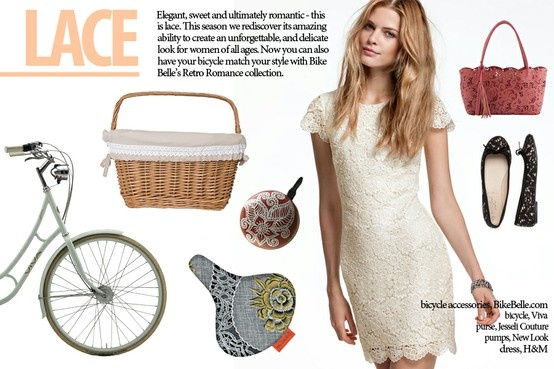 bicycle style idea for 2013: LACE | bicycle accessories by bikebelle.com