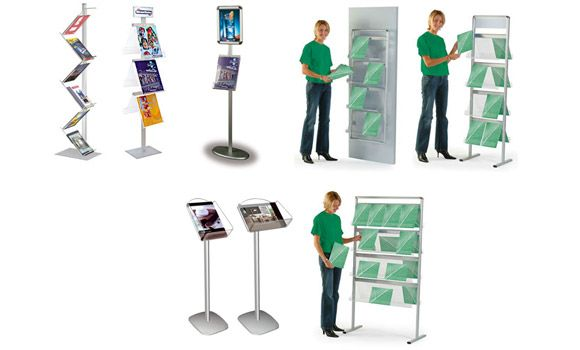 Attract clients and highlight products with brochure holder