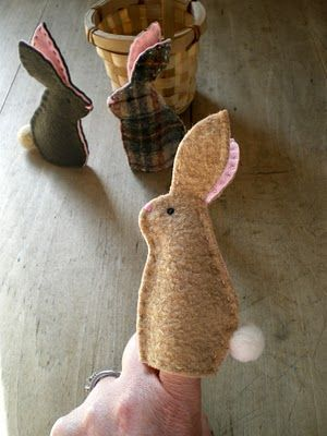 Bunny Finger Puppets...cute for little ones....