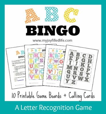 5 Days of Letter Recognition Activities {ABC Bingo} - FREE Printable