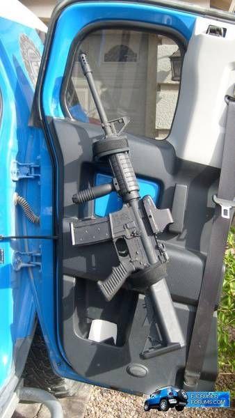 Springtail MPAC Rifle Scabbard Rack for rear door - Toyota FJ Cruiser Forum