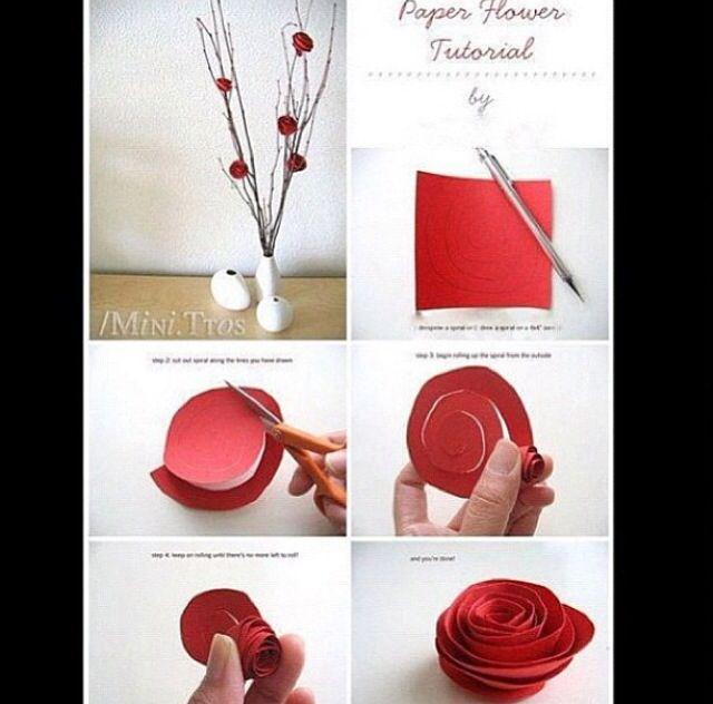 fleurs en papier (spirale)