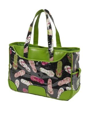 45% OFF Picnic at Ascot Beach Day Collection Black Flip-Flop Large Day Tote