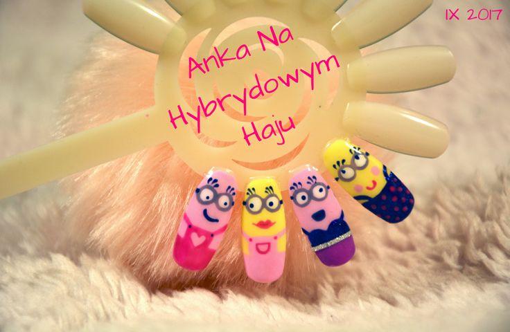 #paznokcie #manicure #hybrydy #pazurki #AnkaNaHybrydowymHaju #Nails #Nailart #wzorek #wzorki #lakiery #lakierydopaznokci #lakierdopaznokci #bajkowepaznokcie #bajki #bajkowe #Minion #Minionnails #Minions #Minionsnails #Minionki #Miniongirl #minionkowepaznokcie #minionkinapaznokciach