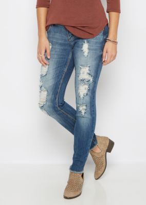 Destroyed & Frayed Skinny Jean in Curvy | rue21