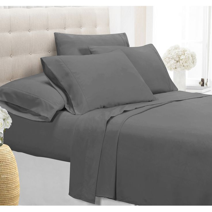 1800 Series Wrinkle Free Ultra Soft Solid 6-piece Queen Size Sheet Set
