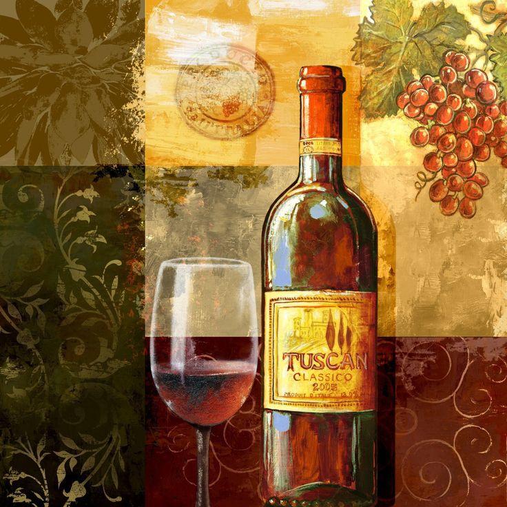 Botella De Vino Tinto Copa Copa Canvas Wall Art Home