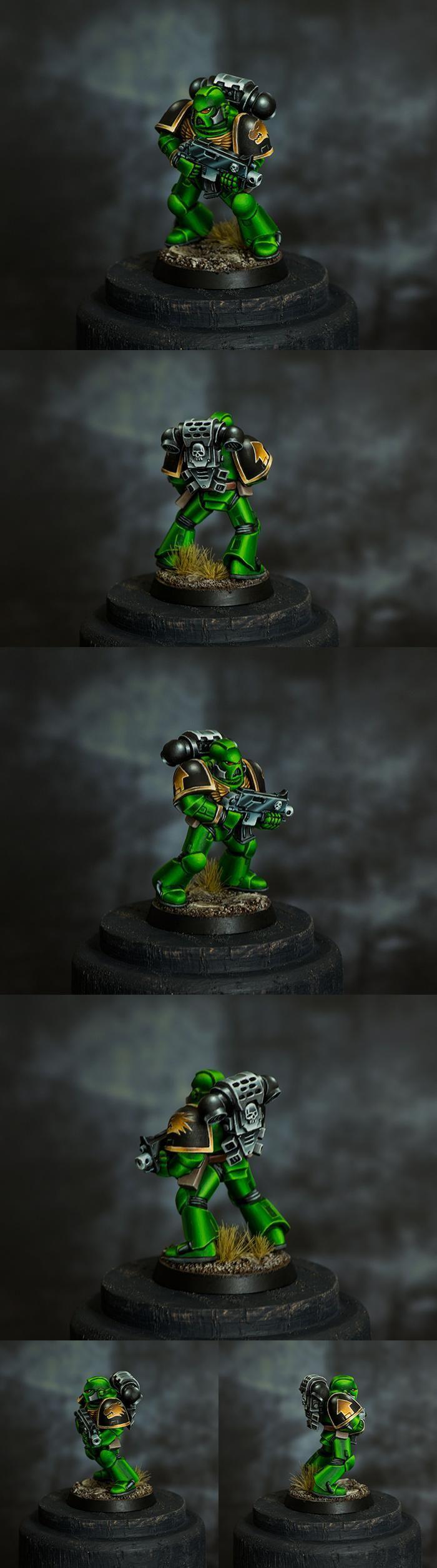 Hendarion, Non Metal Metal Painting, Salamanders, Space Marines