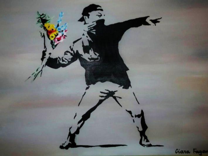 Banksy. Art. Graffiti. Painting. www.ciarafaganart.com