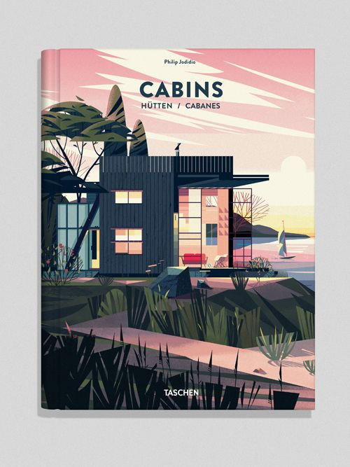 Cabins | Cruschiform  Creation of a series of 60 chapter opening illustrations for a new Architecture book published by Taschen