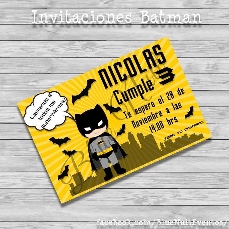 Invitacion de Batman                                                                                                                                                      Más