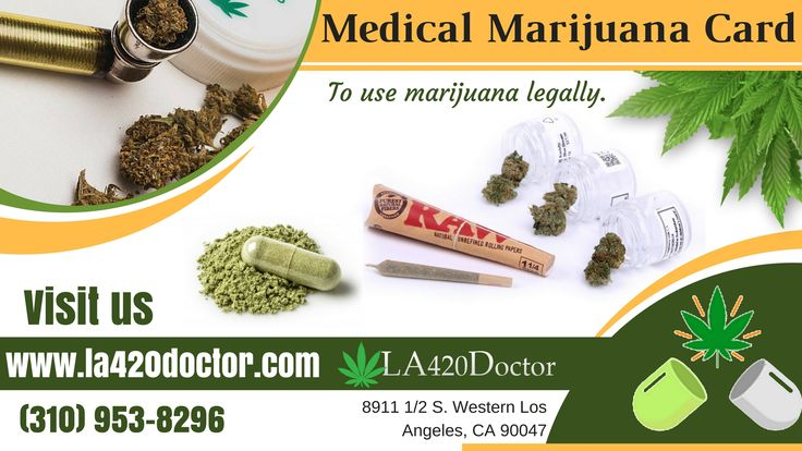 If you're interested in getting a Los Angeles medical marijuana card? LA420Doctor offer valid medical marijuana authorization to receive medical marijuana recognition card. If you have any questions related to medical marijuana? Please call us @ (310) 953-8296.