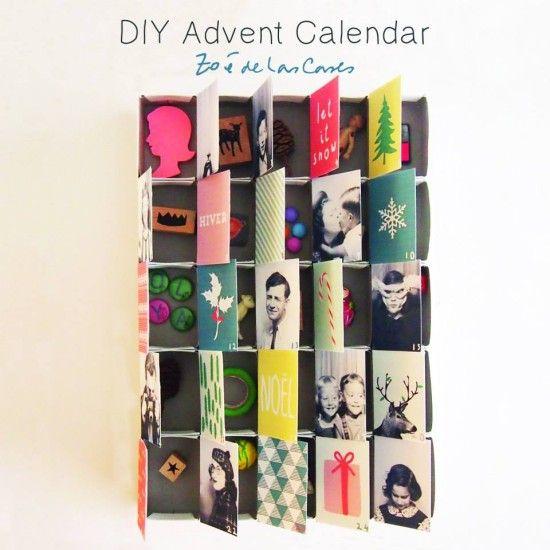 Diy Advent Calendar Drawers : Diy advent calendar by zoe de la cases for pirouette