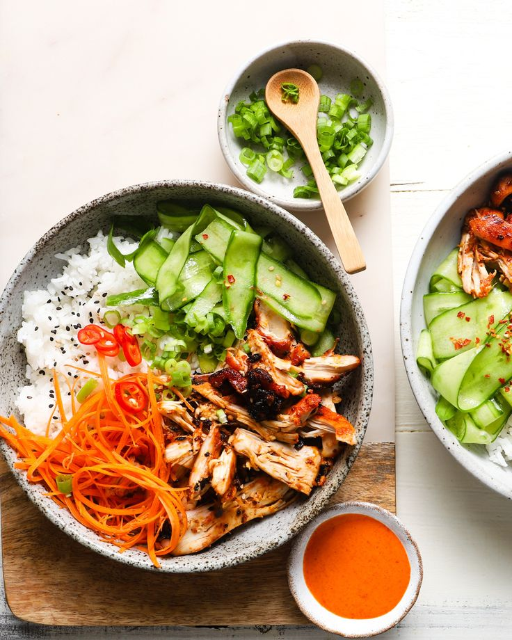 Shredded Chicken Bulgogi Bowls with Gochujang Spicy Mayo ...