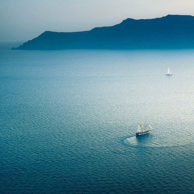 The Aegean blue..