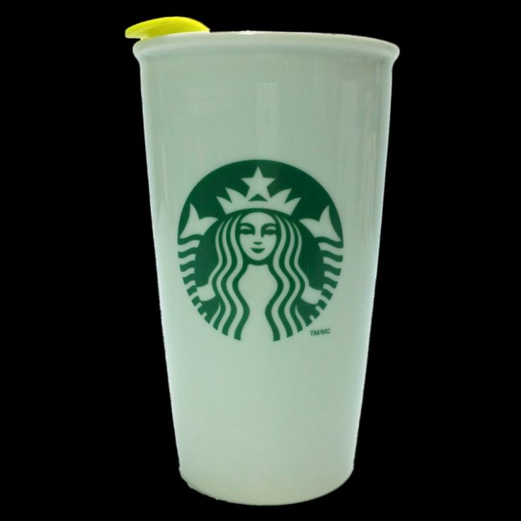 Starbucks Travel Coffee Mug Tumbler White Ceramic Insulated Green Logo w/ Lid #Starbucks
