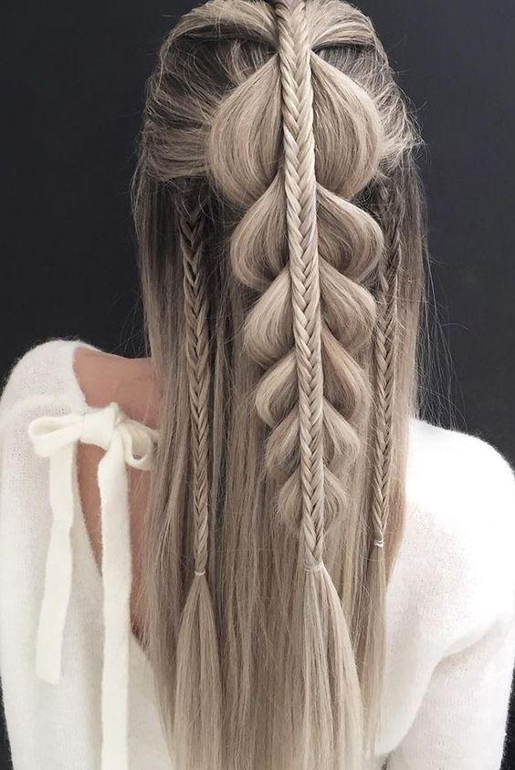 10 Penteados Trançados, Elegantes e Elegantes para Inspiração de Cabelo …