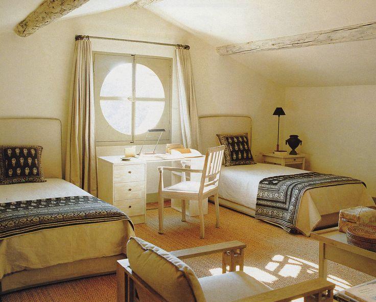 twin beds, desk & sitting area. francois catroux | McGrath II Blog