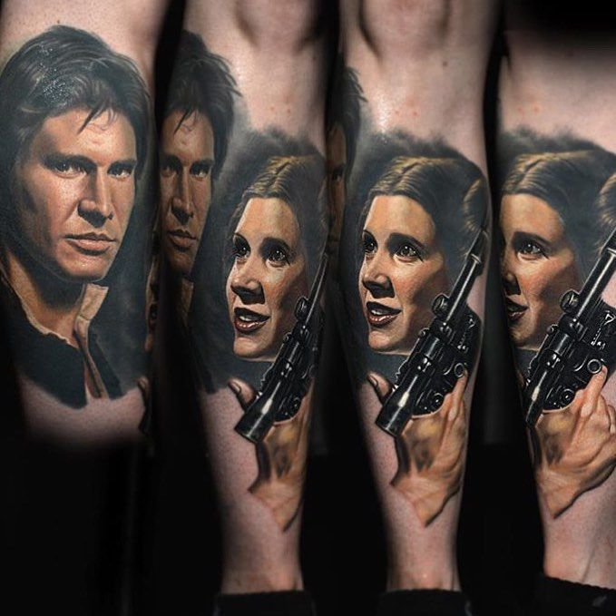 Classic Star Wars tattoo by Nikko Hurtado