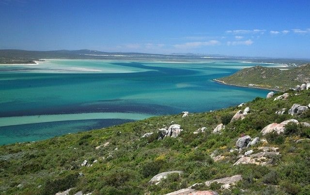 The Langebaan Lagoon in the West Coast National Park, South Africa