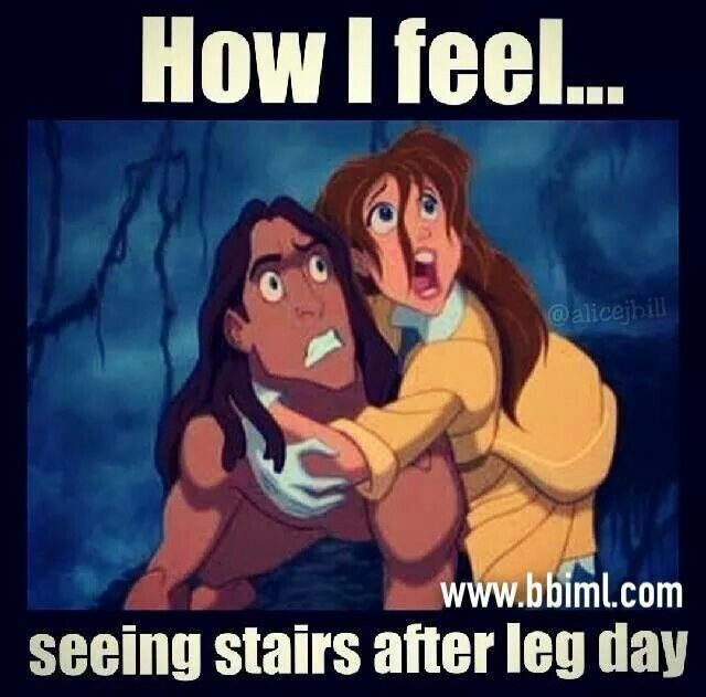 How I feel... seeing stars after leg day. haha exactly!
